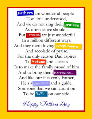 Fathers Day Poems 2015