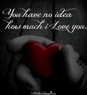 You have no idea how much i love you. Source: http://www.MediaWebApps ...
