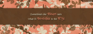 Heart Quote Facebook Cover