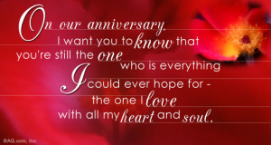 Love you my love.... and happy anniversary