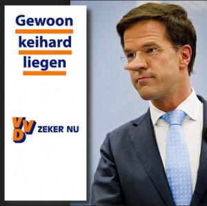 Mark Rutte lijkt de leugenachtige politiek uit de VS als eerste ...