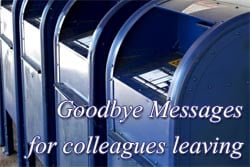 Goodbye message to colleague or coworker leaving