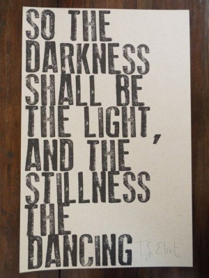 ELIOT Hand Lettered Minimalist Quote Poster, 11x17, Letterpress ...