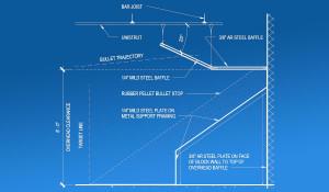 Shooting Range Rubber Berm Traps