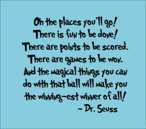 Dr. Seuss Quotes OH the Places You Go