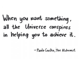 salah satu quotes terbaik the alchemist ( Tumblr )