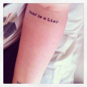 Faith Is A Liar Tattoo