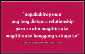 Long Distance Tagalog Relationship Quotes