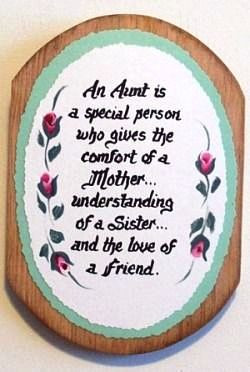 Aunt Verse on Wooden Plaque