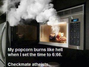 Atheist humor.
