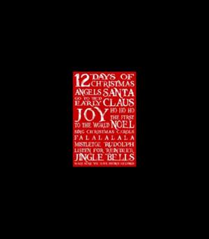Homewares > Tea Towel - Christmas Sayings - Vintage Red - 70cm High