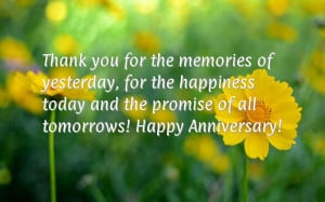 ... happiness today and the promise of all tomorrows! Happy Anniversary