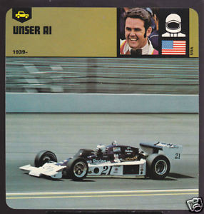 AL UNSER USA Car Racing PICTURE 1978 AUTO RALLY CARD