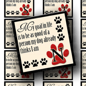 Dog Lovers Alphabet Digital Images Sheet Paw Print Paws Pets Quotes 2 ...