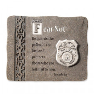 ... You!, Everyday Heroes Collection, Police Officer Plaque, 5 by 4-Inch
