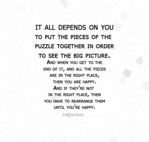 Pieces of the puzzle quote
