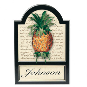Pineapple Welcome Plaque with Quotes