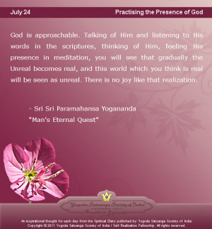 July 24: Quote of the day from Yogananda