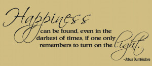 Harry Potter Quote by Dumbledore