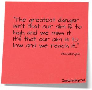 Michelangelo - our aim