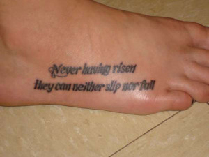 Poem Quote Tattoo