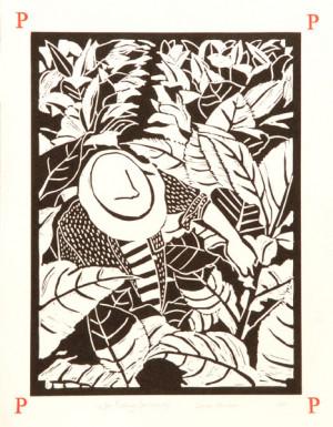 Picking , linoleum block print by Dione Verulam, c. 2010 (image from ...