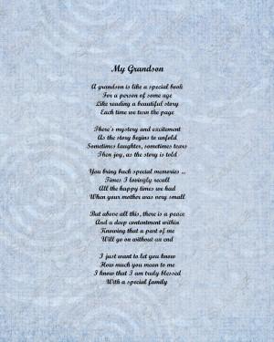 Love My Grandson Poems Grandson poem love poem 8 x 10
