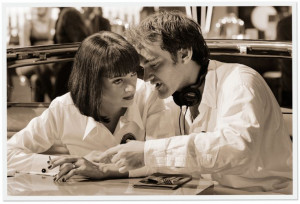 Quentin Tarantino with Uma Thurman – Pulp Fiction