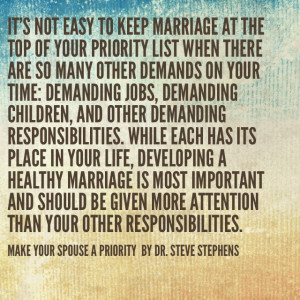 Ur MARRIAGE is TOP #1 Priority; if NOT, the rest cannot exist! IT ...