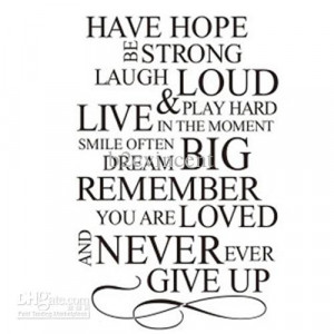 Never Give Up Hope Quotes