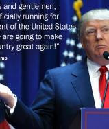 Donald Trump says he is entering 2016 presidential race in bizarre ...