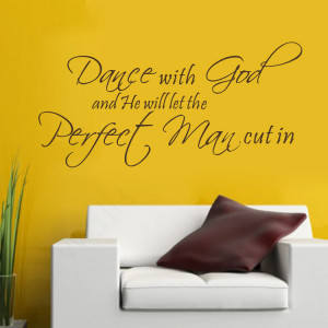 with god and he will let the perfect man cut in Vinyl Wall Art Quote ...