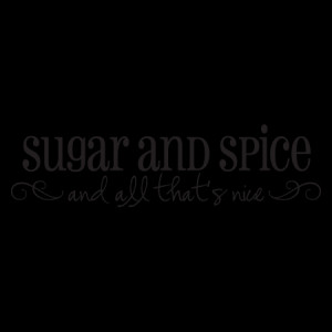 Sugar and Spice Wall Quotes™ Decal