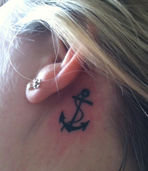 Anchor Tattoos For Girls...