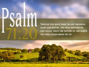 Psalm 71:20 Scripture Spring Landscape HD Wallpaper background for ...