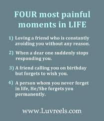 Four most painful moments in life