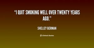 "quit smoking well over twenty years ago."""