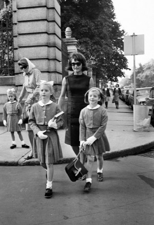 mother, Jacqueline Kennedy. In the background are Caroline's aunt Pat ...