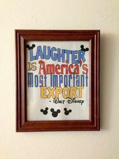 Walt Disney Laughter Quote Printable Art 85x11 by MyRapunzal, $5.00 ...
