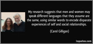 My research suggests that men and women may speak different languages
