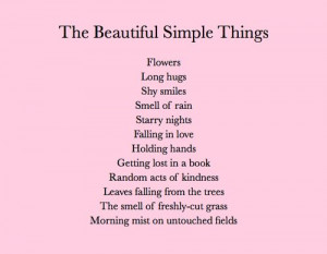 The beautiful simple things in life...