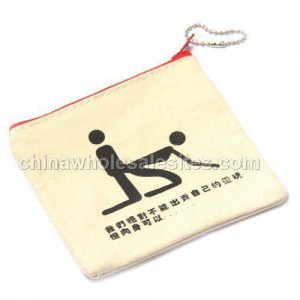 Personalized funny ridiculous quotes purse zipper bag sell flesh