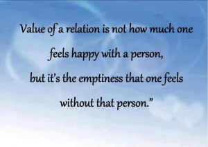 Value of a relationship