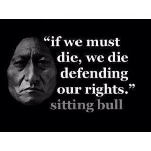 Sitting Bull ...defending it from those that stole it from you..SO sad ...