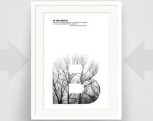 Edgar Rice Burroughs Quote, Fine Ar t Print, Art Poster, Writer Art ...