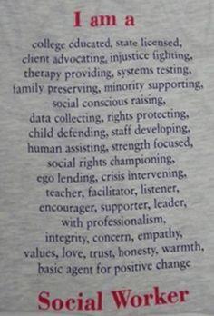 social worker manifesto | Social Workers ROCK! More