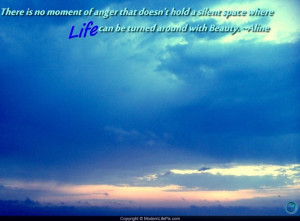 Beautiful Sky View With Life Quotes
