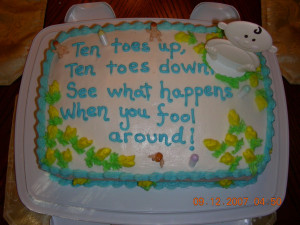 Angel Lynn's baby shower cake
