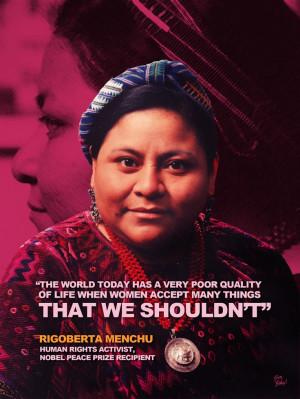 Rigoberta Menchu #BrownHistory Tribute Design