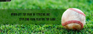 Baseball Quote about Life Facebook Cover Preview